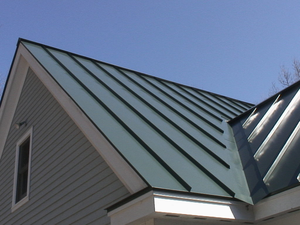 a beautiful standing seam roof from Roof Toppers